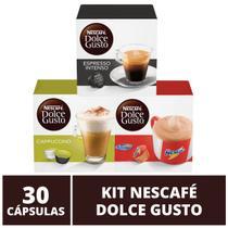 30 Capsulas Dolce Gusto, Capsula Café Espresso, Nescau, Cappuccino - Nescafé