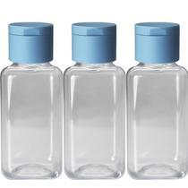 30 Mini Frascos Pet 42ml Tampa Flip Top Álcool Gel Shampoo - Clickaroma