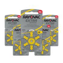 30 Pilhas Auditivas Rayovac Tamanho 10 / PR70 / A10 -