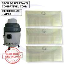 30 Saco Descartável para Aspirador de Pó Electrolux Ap40 -