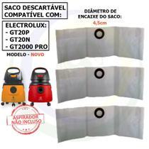 30 Saco Descartável para Aspirador de Pó Electrolux GT2000 / GT20N / GT20P Novo g2nsc -