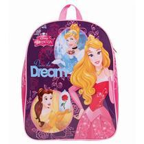 30420 Mochila Escolar G Disney Princesas Dermiwil Rosa/Roxo -