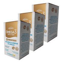 3un Omega 3 Ultra Caps - Óleo de Peixe com EPA e DHA Concentrados - 60 Cápsulas - Equaliv -