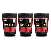 3x 100% Whey Gold Standard 1 lb - Optimum Nutrition -