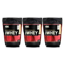 3x 100% Whey Gold Standard 1 lb - Optimum Nutrition