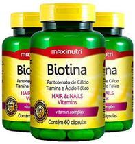 3x Biotina (3x 60 cápsulas) - MaxiNutri -