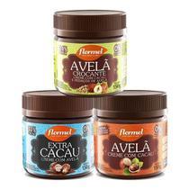 3x Creme De Avelã Zero Açúcar Flormel -