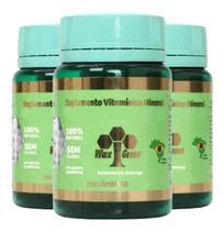 3x Própolis Verde 70% Extrato Seco-100 Cápsulas-Waxgreen -