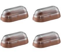 4 Arandela Externa Mini Tartaruga 20cm Sem Grade Cobre Alu82 - Acende a Luz