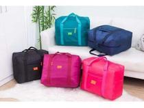 4 Bolsa/ Sacola Dobrável De Viagem Travel Bag Prende Na Mala - Vil