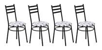 4 Cadeiras Para Cozinha Sem A Mesa de Ferro 135 PFP 4 6 Com - Marcheli