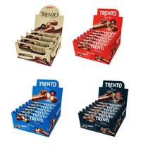 4 Caixas Chocolate Trento 32g C 16un (64 Un Total) - Atacado -