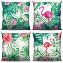 4  Capas De Almofadas Para Sofá, Cama e Poltronas Flamingos - Amanda Bordados