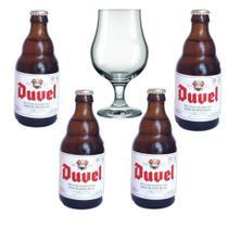 4 cerveja importada belgian golden ale duvel e uma taça - Cervejaria Duvel Moortgat