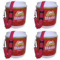 4 Coolers Térmico Brahma Brasil 20 Litros 12 Latas com Alça de Transporte - Ambev