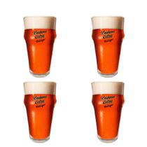 4 Copos de cerveja Brahma Extra Red Lager 400ml - Embalagem Individual - Ambev