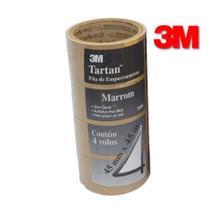 4 Fita Adesiva para Embalagem 3M 45mm x 45m Qualidade -
