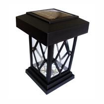 """4 Luminárias Balizadoras Solares Tipo """"Lampião"""" - DNI 6118 - Key West"""