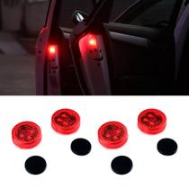 4 Luzes de Sinalização LED Universal para Carros KX3 Portas Porta Luvas e Porta Malas Com Imã Carro -