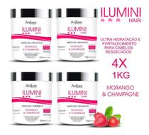 4 Máscara De Hidratação Vitaminas E Biotina Anjore 1kg -