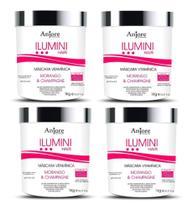 4 Máscara Hidratante Vitaminas Anjore 1k Ilumini Hair -