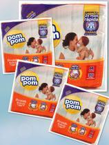 4 pacotes de Fraldas Pompom- Tamanho M (120 fraldas) -