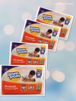 4 pacotes de Fraldas Pompom- Tamanho  P (128 fraldas) -
