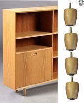 4 pes palito para cômoda e armario 5 cm de altura - Rodrim