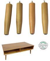 4 pes palito para mesa lateral de canto 20 cm de altura - Rodrim