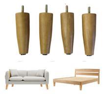 4 pés palito Utilizado em Cama, Poltrona, Sofá, Armário e demais moveis, 12 cm de altura - Rodrim