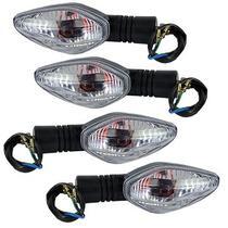 4 Pisca Seta lampada Sinaleira Cristal Nxr Bros Nova Para Cg Titan Fan 125 150 Cbx 250 Cb Xre 300 - Plasticycle