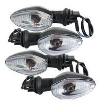 4 Pisca Seta Sinaleira Cg Titan Fan 125 150 160 2014 Em Diante Lente Cristal  Padrão Com Lampada - Plasticycle