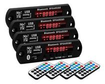 4 Placa P/ Amplificador Modulo Mp3 Bluetooth Usb Muda Pasta - Oestesom