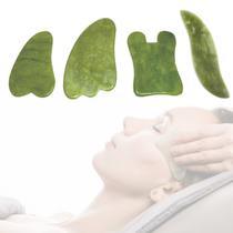 4 Placas Massageadoras Gua Sha Pedra Natural - Wapshop