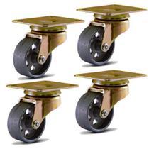 4 Rodízio giratório 1.5/8 com placa roda zamac para freezer total 600 kg - Colson