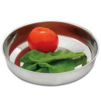 4 Saladeiras Inox Tigela Cozinha Saladas Bacia Refratário - Nacional