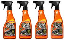 4 Super Limpador Limpa Tudo Luxcar 500 Ml -