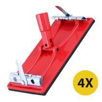 4 Suporte Para Lixa Com Conector Ref 100/3 10,5x21cm Atlas -