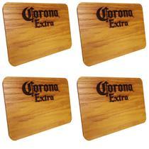 4 Tábuas de Madeira Corona Extra 24,5 x 17,5 cm Personalizada - Ambev