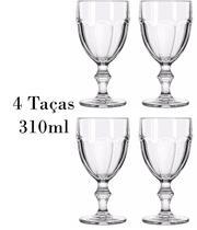 4 Taças de Vinho e Água Country 310ml -  Libbey -
