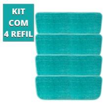4 Unidades Refil Rodo Mop Spray Almofada Microfibra Esfregão - 123Util