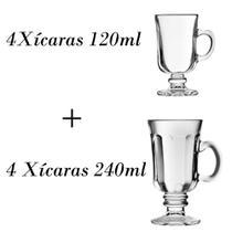4 Xícaras 120ml + 4 xícaras country 240ml Nespresso Dolce Gusto - Crisal