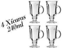 4 Xícaras Country 240ml - Dolce Gusto Caneca Nespresso - Crisal
