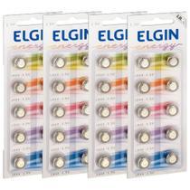 40 Baterias Alcalina Elgin Lr44 Lr1154 1.5v Ag13 Energy -