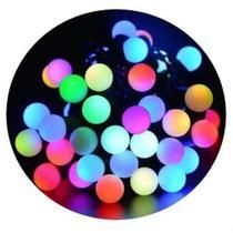 40 Led Bolinha De Luz RGB Cordão Bivolt Colorida Fio Verde - Azy Comercial