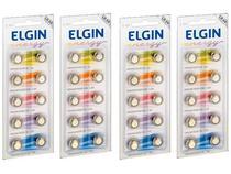40pcs Bateria Lr54 Ag10 Lr1130 Elgin Pilha Alcalina Original -