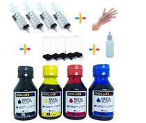 450ml - Kit Tinta Completo Recarga Compatível Impressora Hb 122 662 664 - GOLD INK
