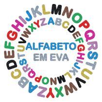 5 Alfabeto Móvel Eva Glitter Revenda 130 Letras 8cm Rf 503 - Mr Laços E Acessórios
