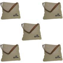 5 Bolsas Corona Bag Multiuso com 2 Bolsos Externos e Alça em Couro - Ambev