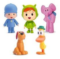 5 Bonecos Vinil Turma Do Pocoyo Pato Elly Loula Nina Kit - Cardoso Toys